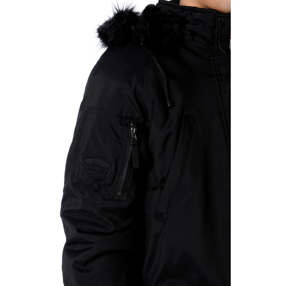 SRH Bomber Black Jacket Sleeve