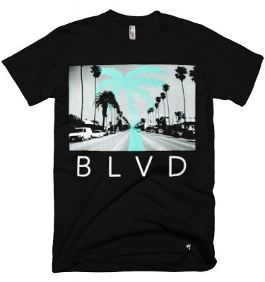 BLVD Supply Boulevard Black Tshirt Front