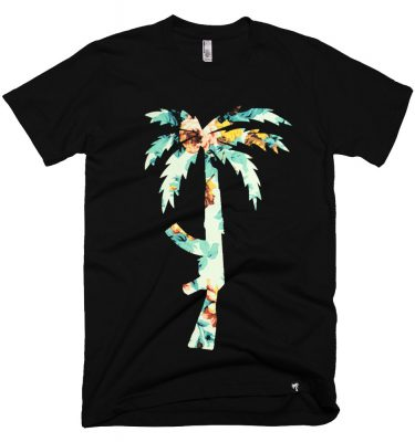 BLVD Supply Floral AK Black Tshirt Front