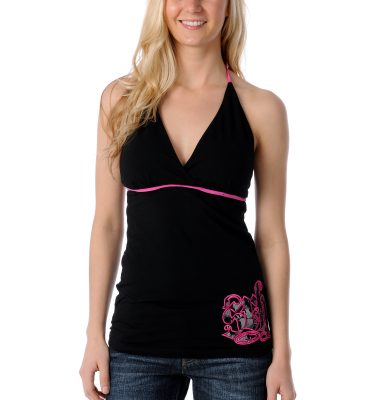SRH Ace Of Lace Black Halter Top Front
