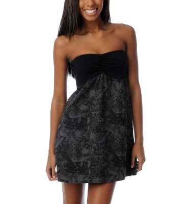 SRH Ash To Ash Black Grey Strapless Dress Front