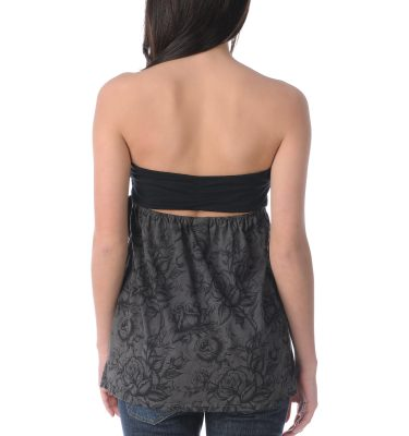 SRH Rosie Bud Grey Black Tube Top Back