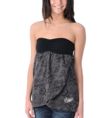 SRH Rosie Bud Grey Black Tube Top Front