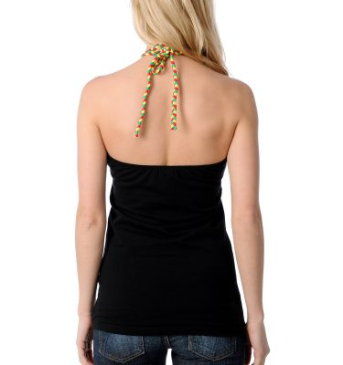 SRH Trustafarian Black Halter Top Back