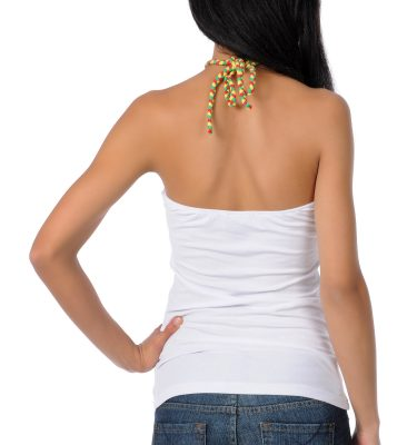 SRH Trustafarian White Halter Top Back