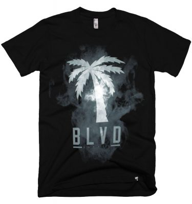 BLVD Supply Smoke Black Tshirt Front