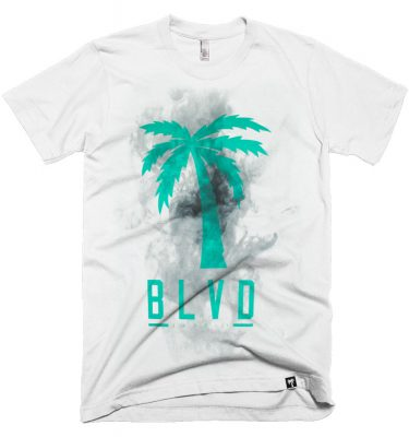 BLVD Supply Smoke White Tshirt Front