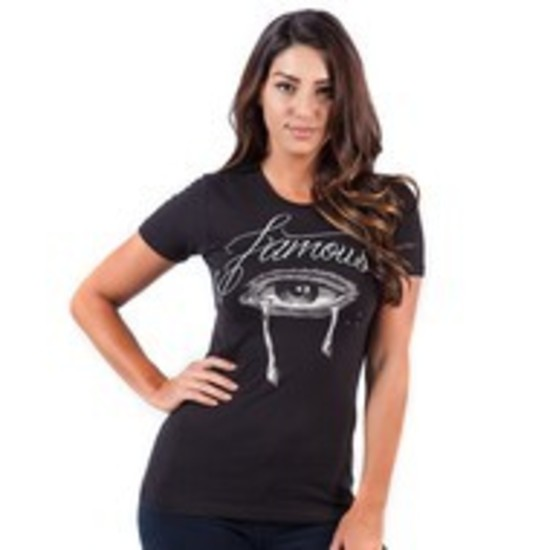 Famous Stars & Straps - JUNIORS - Akilla Eye to Eye Womens Tee - Black
