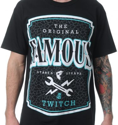 Famous Stars & Straps - Twitch Local Label Mens Tee - Black