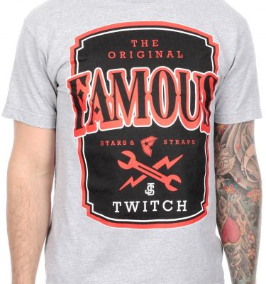 Famous Stars & Straps - Twitch Local Label Mens Tee - Heather Grey