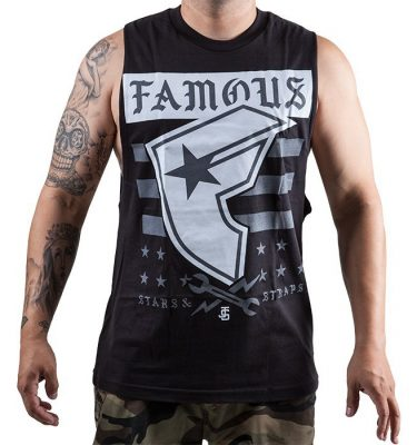 Famous Stars & Straps - Twitch Stars and Bars Mens Tee - Black