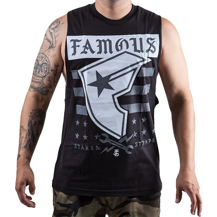 Famous Stars & Straps - Twitch Stars and Bars Mens Tank - Black