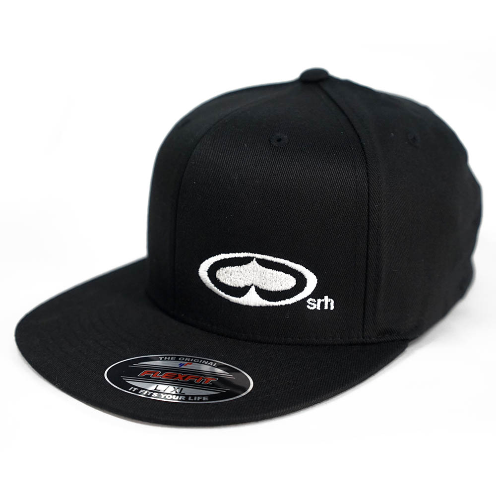 Srh Clothing Og Flat Bill Mens Flexfit Cap Black